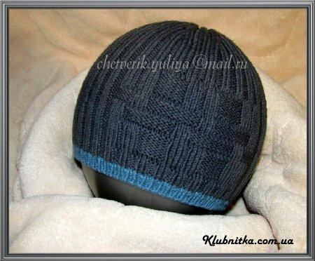 Весенняя шапочка для мальчика 6-8 лет